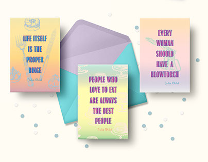Julia Child Themed Greeting Cards