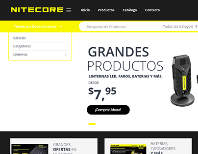 Website Nitecore Perú