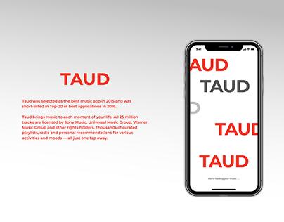 TAUD - a music streaming app