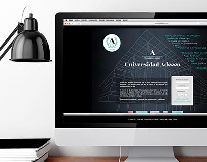 Diseño web Universidad Adecco