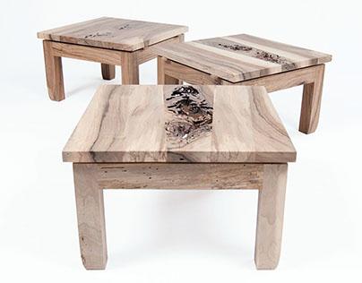 three prayer stools