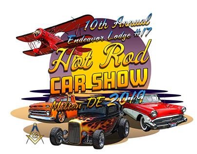Hot Rod Car Show T-Shirt Design