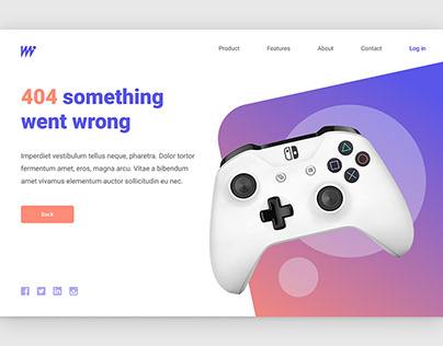 404 Screen for gaming site