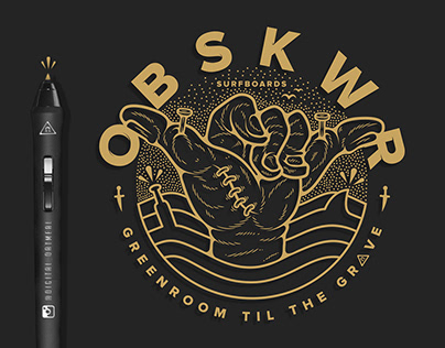 OBSKWR Surfboards - Logo + Tee Design
