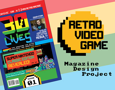 30 Lives - Retro Video Game Magazine Design