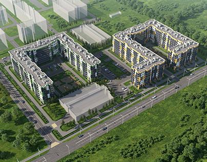 Визуализация жилого комплекса Янино. Санкт-Петербург.