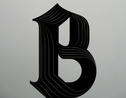 BLK LTR SERIES – Typographic experiment
