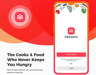 Frooms | Uber for cook | On demand | Food ordering app