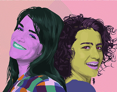 Portraits of Colorful People- Comedians