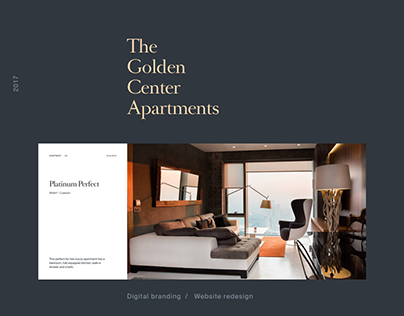 Golden Center Apartments —Web / Branding
