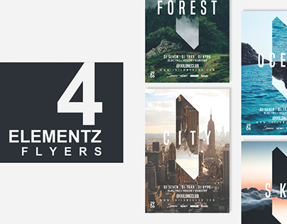 4in1 ELEMENTS Flyer Templates