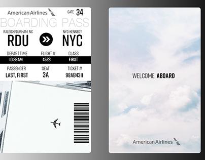 Daily UI #004 Boarding Pass