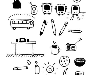 Pen illustrations