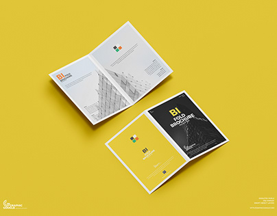 Free A4 Bi Fold Brochure Mockup