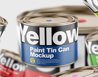 Paint Tin Can PSD Mockup