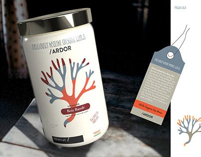 Sea Moss Gel Food Product branding