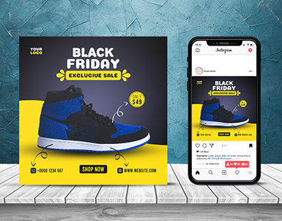 Black Friday Social Media Banner Design Template