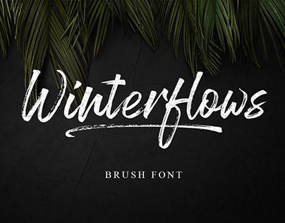 Wintorflows Brush Font
