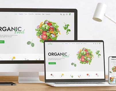 Vegetable Website & Responsive