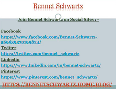 Bennet Schwartz ! Schwartz Bennet Now on free.Yudu