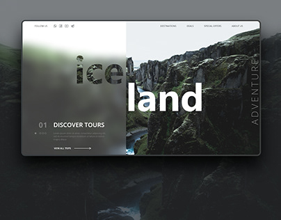Travel Landing Page Iceland