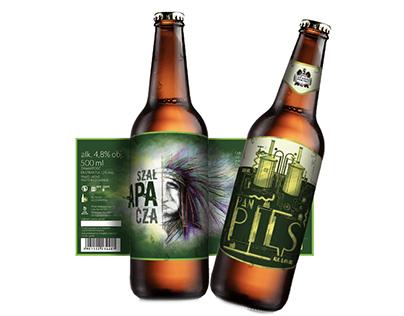 Beer labels illustration