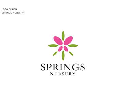 Springs Nursery logo and Branding