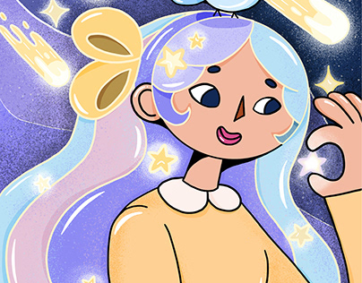 Cosmic Girl - Illustrazione Grafica