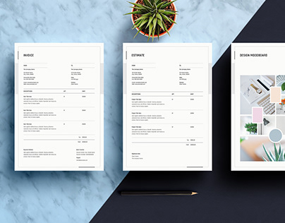 Invoice,Estimate and Mood Board Template