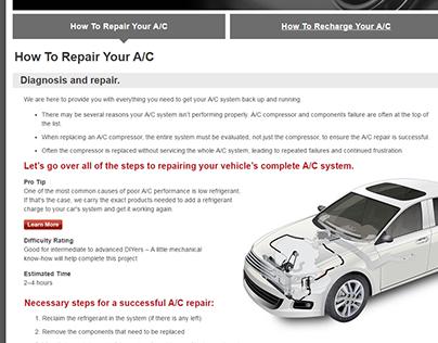 AC Repair Landing Page
