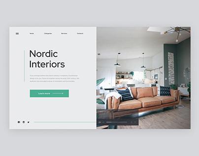 Minimal website for scandinavian interiors