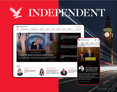The Independent News site - Redesign Concept