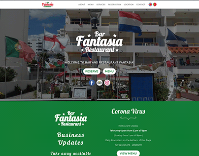 Fantasia - Bar - Restaurant - WordPress Build