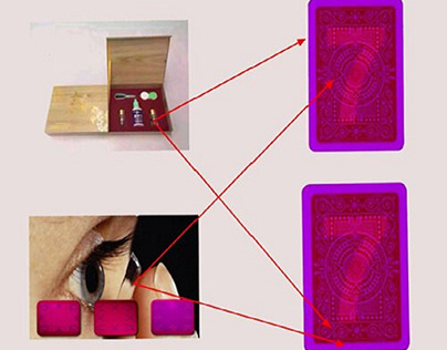 Cheating Contact Lenses for Playing Cards