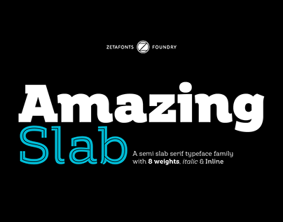 Amazing Slab - A semi slab serif family (free trial!)