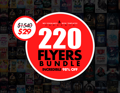 220 Massive Flyer Templates Bundle