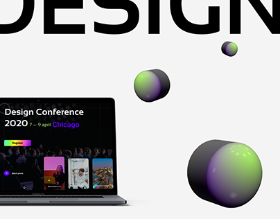 Landing page for the design conference in Chicago