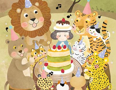 Birthday Party with Cat Family/南非草原上的貓科慶生派對