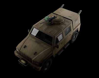 Lince Car, low Poly