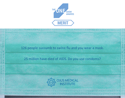 One Show Merit - Aids Mask