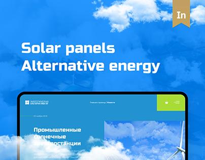 Alternative energy UI/UX design