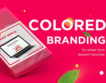 Colored branding forstreet food dessert franchise