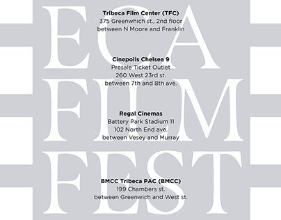 Tribeca Film Festival Posters