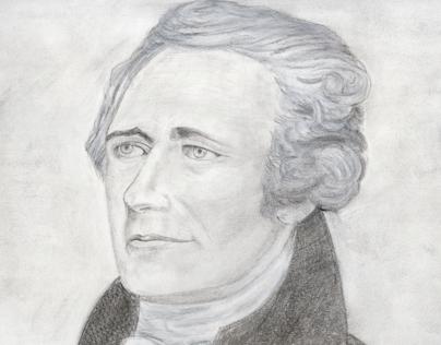 Irvin Goldman Drawing of Alexander Hamilton