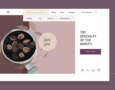 Coffee shop - concept of website