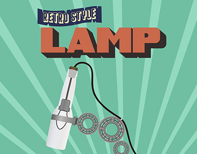 Retro Style Lamp Poster