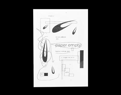 """""""Paper empty"""" - my zine"""