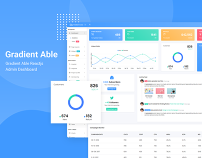 Gradient Able Admin Template