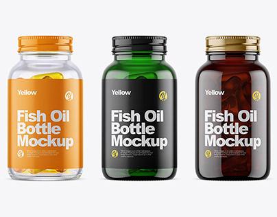 Fish Oil Bottle Mockup