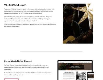 Homepage for my Portfolio Website